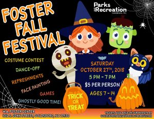 Foster Fall Festival 2018 flyer. Source: Goldsboro Parks and Recreation
