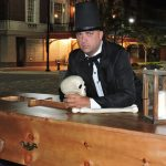 Victorian era casket and handler with Wayne County Historical Society. Source: Thomas Bailey