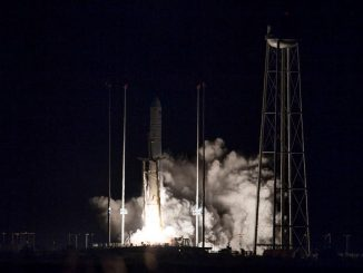 Northrop Grumman's Cygnus spacecraft launches on an Antares rocket at 4:01am EST on November 17, 2018. Credits: NASA/Joel Kowsky