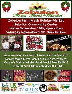 Holiday Market 2018 flyer. Source: Zebulon Farm Fresh Market