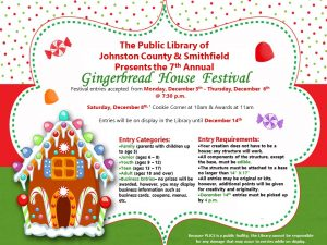 Gingerbread House Festival 2018 flyer. Source: Katie Barbour, Public Library of Johnston County and Smithfield NC