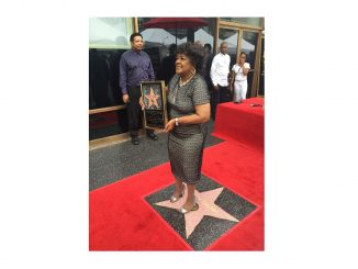 Shirley Caesar receiving a star on the Hollywood Walk of Fame, June 28,2016. Source: Dr. Mildred Summerville, Summerville Productions, Wilson NC