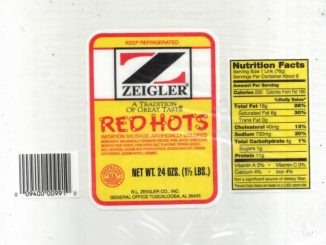 One of the R. L. Zeigler Co., Inc. recall labels. Source: USDA Food Safety and Inspection Service