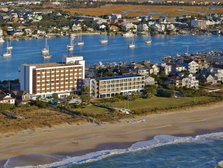 A 2018 aerial photo of Blockade Runner Beach Resort, Wrightsville Beach, NC. Source: Robert B Butler