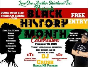 Black History Month Celebration flyer. Source: Sweetriches, Wilson, NC