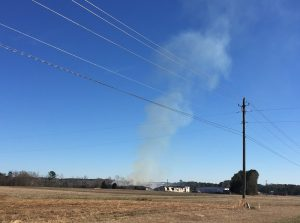 View from Vollmer Farm of the Montclair Complex fire. Photo: Kay Whatley