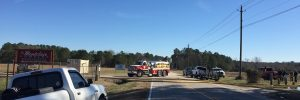 Another fire department vehicle arriving. Photo: Kay Whatley