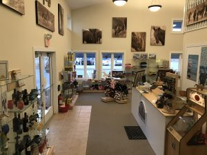 Inside the Corolla Wild Horse Fund gift shop. Photo: Jo Langone