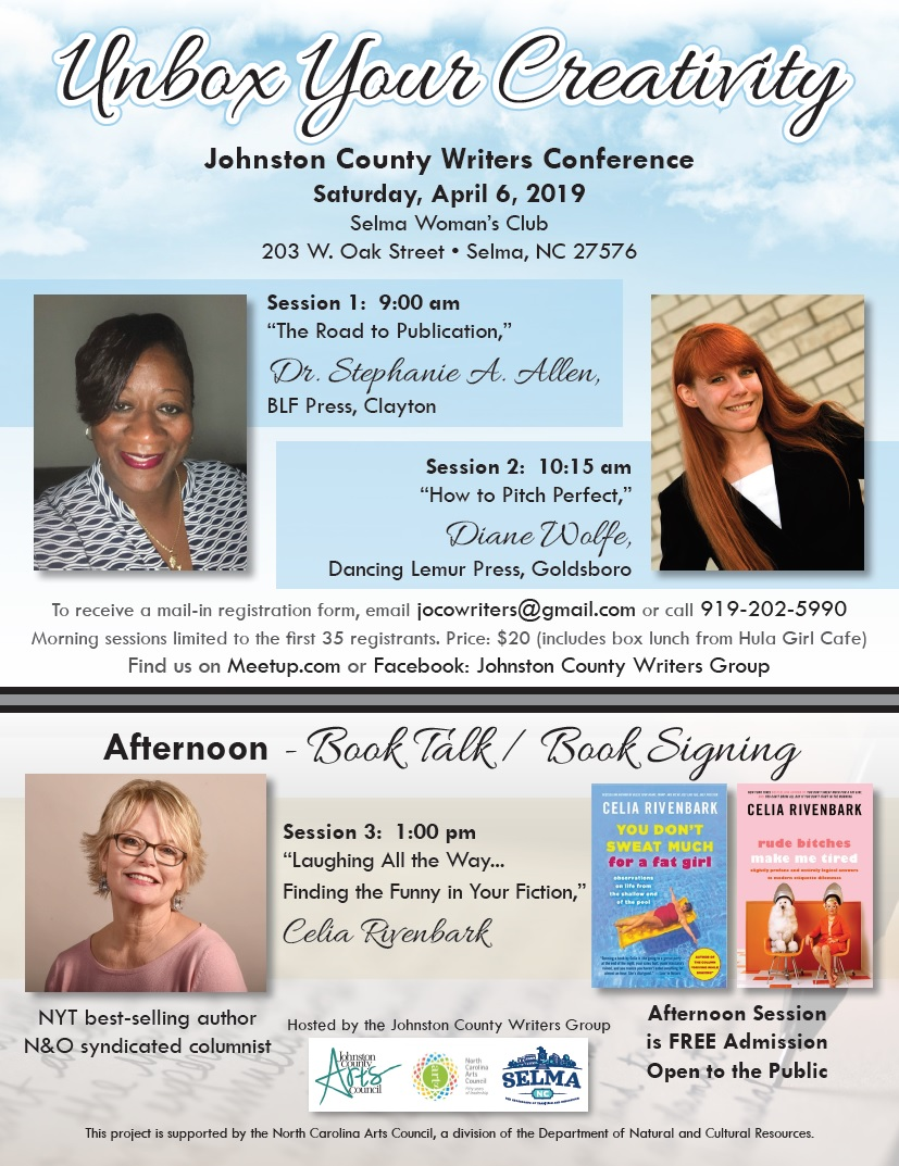 Johnston County Writers Conference 2019 flyer. Source: Cindy Brookshire