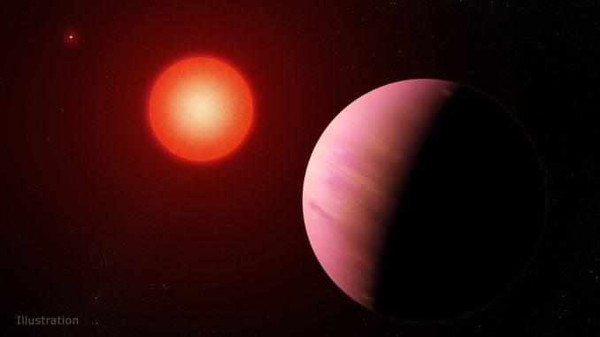 Illustration of the newfound planet K2-288Bb. Credit: NASA's Goddard Space Flight Center/Francis Reddy