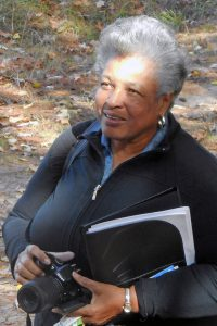 Jackie Dove-Miller participating in a prior year's retreat at the park. Source: Franklin County Arts Council