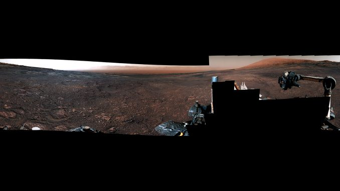 This panorama from the Mast Camera (Mastcam) on NASA's Curiosity Mars rover was taken on Dec. 19 (Sol 2265). The rover's last drill location on Vera Rubin Ridge is visible, as well as the clay region it will spend the next year exploring. Credit: NASA/JPL-Caltech/MSSS