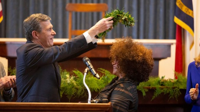 NC Ninth Poet Laureate, Jaki Shelton Green. Source: Ford Porter, NC Office of the Governor