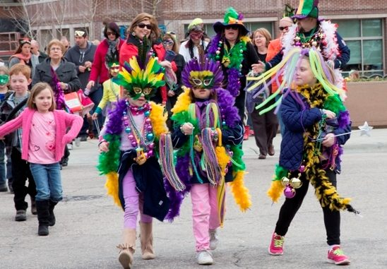 Mardi Gras parade in Wake Forest, North Carolina. Source: Town of Wake Forest