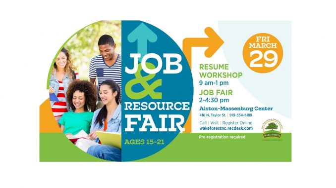 Job and Resource Fair 2019 flyer. Source: Bill Crabtree, Town of Wake Forest