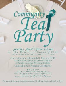 Community Teal Party 2019 flyer.