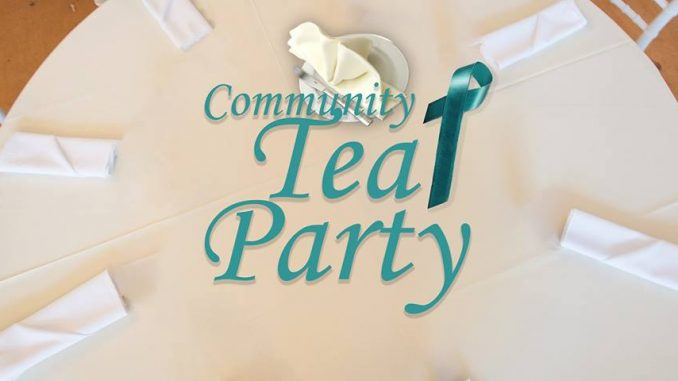 Community Teal Party banner. Source: My Sister's House of North Carolina
