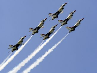 The USAF Thunderbirds on May 8, 2011 in Smyrna, TN. Photo: US Air Force photo/Staff Sgt Richard Rose Jr.