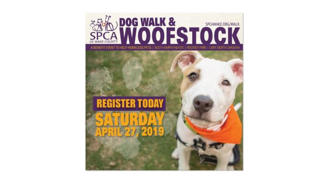 Dog Walk and Woofstock 2019 flyer. Source: Tara Lynn, SPCA of Wake County
