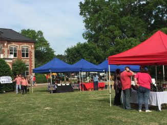 Zebulon Farm Fresh Market sets up in front of the Municipal Complex with adjacent parking. Photo: Kay Whatley