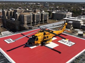A Sentara Norfolk General Hospital helicopter landing pad. Source: US Coast Guard 5th District Mid-Atlantic Contact: 5th District