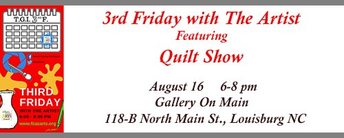 Quilt Show in August is part of the FCAC 3rd Friday with the Artist event series. Source: Ellen Queen, Franklin County Arts Council