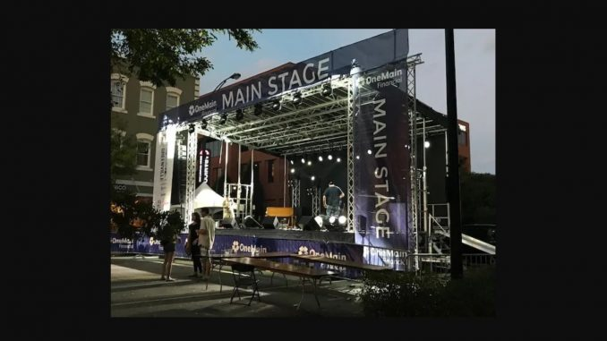 Stage will host music, speakers, and ore during the the Spruce Pine Alien Conference and Expo, June 14-15, 2019, Spruce Pine, North Carolina