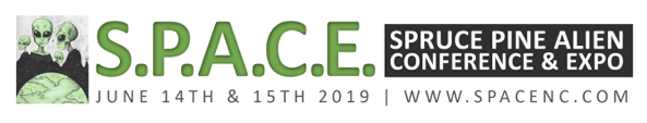 Spruce Pine Alien Conference and Expo is June 14-15, 2019 in Spruce Pine, North Carolina