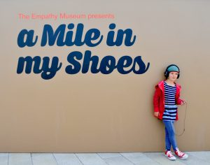 Empathy Museum exhibit, A Mile in My Shoes, will be in Denver, Colorado August 2019. Courtesy of the Biennial of the Americas.