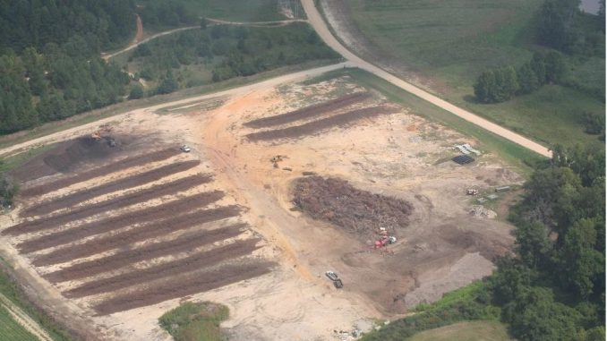 Aerial view of compost giveaway site. Source: City of Rocky Mount, North Carolina