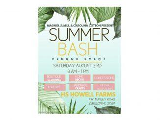 Summer Bash Vendor Event. Source: HS Howell Farms, Zebulon, NC