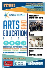 Knightdale Arts and Education Fest 2019 poster. Source: Town of Knightdale, North Carolina