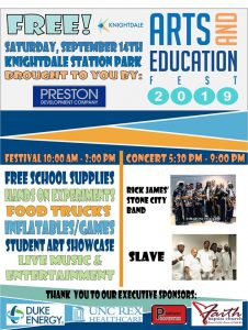 New Knightdale Arts and Education Fest poster. Source: Town of Knightdale