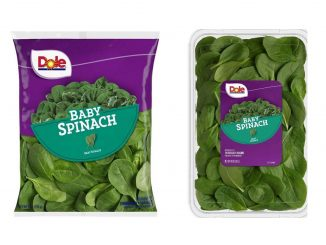 Labels released with August 9, 2019 baby spinach recall. Source: Dole.com / FDA