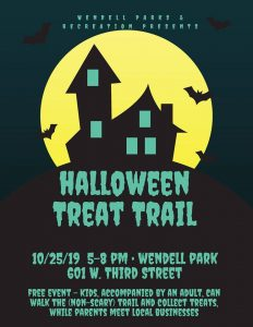 Halloween Treat Trail 2019 flyer. Source: Wendell (NC) Parks and Recreation