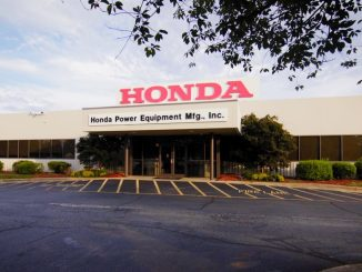 Exterior of the Honda Power Equipment Mfg. entrance in Swepsonville, NC. Source: Honda North America