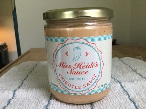 14oz jar of Miss Heidi's Sauce. Source: Wendy Perry / Miss Heidi's Sauce
