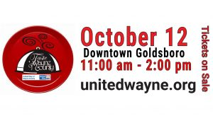 The 2019 Taste of Wayne County food event is October 12. Source: United Way of Wayne County, North Carolina