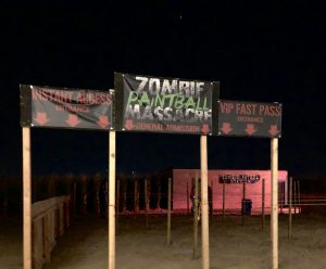 Zombie Paintball Massacre at Haunted Field of Screams 2019, Thornton, Colorado. Source: Nicole Banks