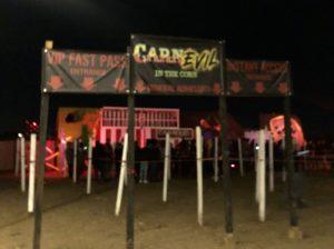 CarnEvil entrance, Haunted Field of Screams 2019, Thornton, Colorado. Source: Nicole Banks