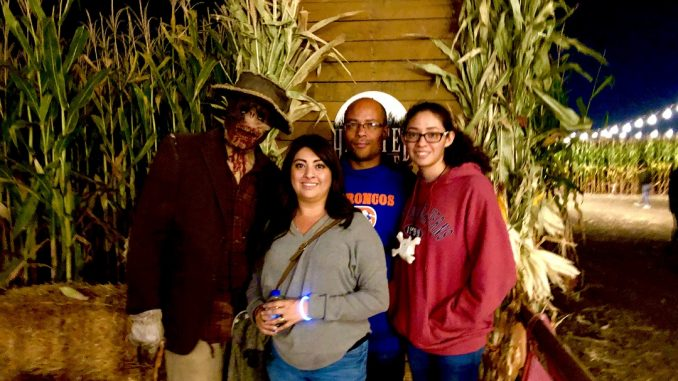 The Grey Area News CO crew (The Banks Family) at the 2019 Haunted Field of Screams, Thornton, Colorado. Source: Nicole Banks