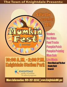 Mumkin Fest 2019 flyer. Source: Knightdale, Parks, Recreation, and Cultural Programs