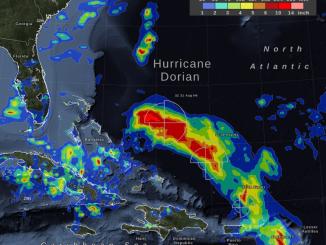 Visualization by NASA Goddard of Hurricane Dorian on August 31, 2019.