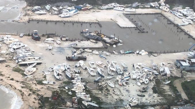 Bahamas impacted by Hurricane Dorian. Source: US Coast Guard photo courtesy of Coast Guard Air Station Clearwater