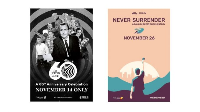 Get tickets for 'The Twilight Zone' special and 'Galaxy Quest' documentary nights in November 2019. Source: Fathom Events