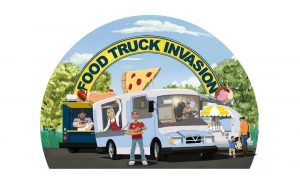 Food Truck Invasion logo. Source: Burt + Brewington Creative Agency / City of Rocky Mount, NC