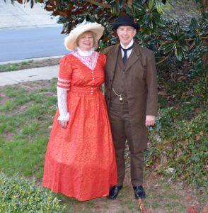 MaryBeth and Scott in Edwardian Costume at 2018 Zebulon Historical Walking Tour. Source: MaryBeth Carpenter, Preservation Zebulon