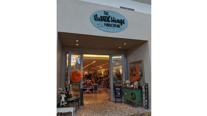 The Rusted Hinge Marketplace is located inside Triangle Town Center mall and is a family-owned business.