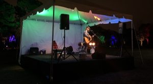 Andrew Chastain on stage at JC Raulston Arboretum. Photo: Nadia Ethier
