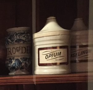 Old-time medicine artifacts on display in The Country Doctor Museum, Bailey, NC. Photo: Kay Whatley